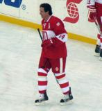 Brendan Shanahan skates during pre-game warmups before the second game of the Alumni Showdown.