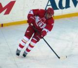 Viacheslav Fetisov skates during pre-game warmups before the second game of the Alumni Showdown.