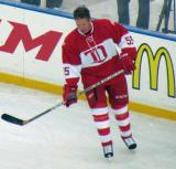Larry Murphy skates near the boards during pre-game warmups before the second game of the Alumni Showdown.
