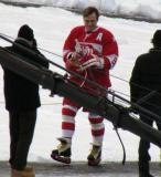 Sergei Fedorov is introduced before the second game of the Alumni Showdown.