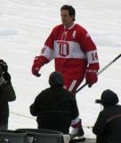 Brendan Shanahan is introduced before the second game of the Alumni Showdown.