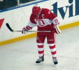 Steve Yzerman skates before the start of the second Alumni Showdown game.