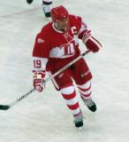Steve Yzerman skates during the second Alumni Showdown game.