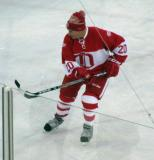 Mickey Redmond skates in the second Alumni Showdown game.