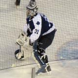 Curtis Joseph gets set in his crease in the second period of the second Alumni Showdown game.