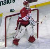 Chris Osgood stands in the crease during the second Alumni Showdown game.