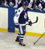 Tiger Williams skates in front of the Toronto alumni bench during the second Alumni Showdown game.
