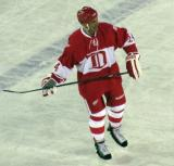 Chris Chelios skates in the neutral zone during the second Alumni Showdown game.