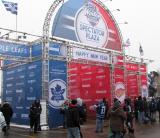 The entrance to the Winter Classic Spectator Plaza outside Michigan Stadium.