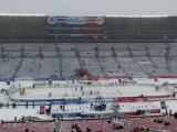 The Winter Classic rink at Michigan Stadium.