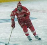 Danny DeKeyser skates during pre-game warmups before a snowy Winter Classic.