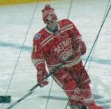 Daniel Alfredsson skates during pre-game warmups before a snowy Winter Classic.