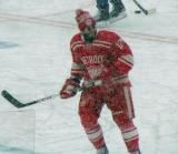 Patrick Eaves skates at the blue line during pre-game warmups before a snowy Winter Classic.