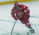 Henrik Zetterberg skates at the blue line during pre-game warmups before a snowy Winter Classic.