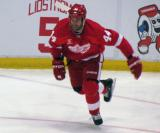 Todd Bertuzzi skates back up ice.