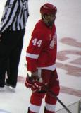 Todd Bertuzzi skates back to the bench during a stop in play.