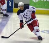 Jordin Tootoo skates near the blue line during pre-game warmups before the Grand Rapids Griffins' Purple Game.