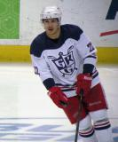 Jordin Tootoo skates during pre-game warmups before the Grand Rapids Griffins' Purple Game.