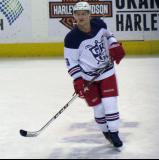 Teemu Pulkkinen skates during pre-game warmups before the Grand Rapids Griffins' Purple Game.