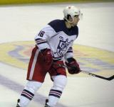 Xavier Ouellet skates across the blue line during the Grand Rapids Griffins' Purple Game.