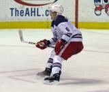 Teemu Pulkkinen skates in the defensive zone during the Grand Rapids Griffins' Purple Game.