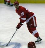 Tomas Jurco skates into the offensive zone during pre-game warmups.