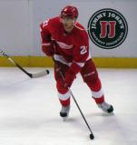 Tomas Tatar skates during pre-game warmups.
