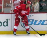 Brendan Smith looks to make a pass during pre-game warmups.