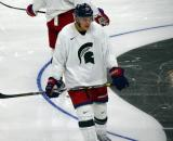 Corey Tropp skates during a session at the 2014 MSU Pro Camp.