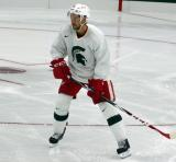 Drew Miller skates during a session at the 2014 MSU Pro Camp.