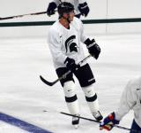 Corey Potter skates during a session at the 2014 MSU Pro Camp.
