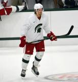 Danny DeKeyser skates during a session at the 2014 MSU Pro Camp.