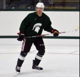 Brett Skinner skates during a session at the 2014 MSU Pro Camp.