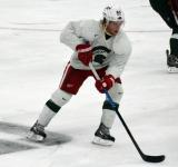 Justin Abdelkader skates during a session at the 2014 MSU Pro Camp.