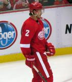 Brendan Smith skates during pre-game warmups.