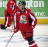 Nathan Paetsch skates during pre-game warmups before a Grand Rapids Griffins game.