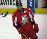Andreas Athanasiou skates at the blue line during pre-game warmups before a Grand Rapids Griffins game.