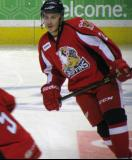 Andy Miele skates in the neutral zone during pre-game warmups before a Grand Rapids Griffins game.