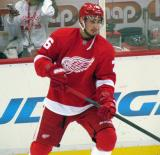 Tomas Jurco skates near the boards during pre-game warmups.