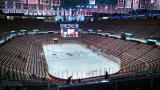 The bowl of Joe Louis Arena shortly after doors open for a regular season game.