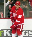 Stephen Weiss skates along the boards during pre-game warmups.