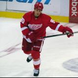 Stephen Weiss skates in the neutral zone during pre-game warmups.
