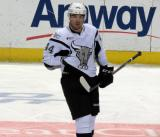 Shane O'Brien of the San Antonio Rampage skates during a stop in play in a game against the Grand Rapids Griffins.