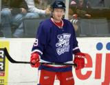 Mark Zengerle stands near the boards during a stop in play in the Grand Rapids Griffins' Purple Game.