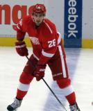 Tomas Jurco skates at the blue line during pre-game warmups.