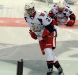 Andreas Athanasiou skates during pregame warmups before a Grand Rapids Griffins game.