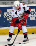 Mark Zengerle handles a puck during pregame warmups before a Grand Rapids Griffins game.