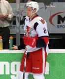 Anthony Mantha stands at the bench during pregame warmups before a Grand Rapids Griffins game.