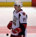 Tomas Nosek stands in the neutral zone during pregame warmups before a Grand Rapids Griffins game.