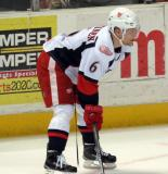 Teemu Pulkkinen lines up at wing for a faceoff during a Grand Rapids Griffins game.